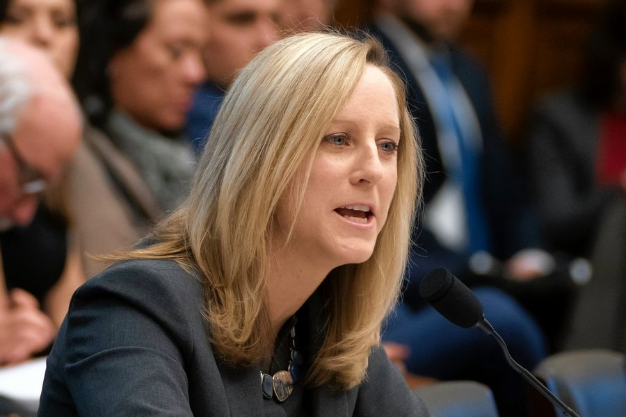 Kathy Kraninger is director of the Consumer Financial Protection Bureau, which on Tuesday proposed rules that would give debt collectors the go-ahead to send consumers unlimited amounts of texts and emails.