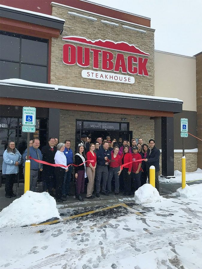 The Gurnee Chamber of Commerce recently held a ribbon cutting for Outback Steak House.