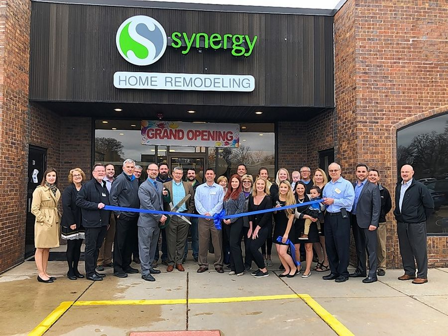 The Barrington Area Chamber of Commerce gathered with the village of Kildeer for a ribbon-cutting ceremony to celebrate the grand opening of Synergy Builders' new showroom at 7 E. Northwest Hwy. in Palatine.