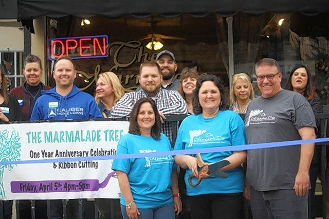 The Oswego Area Chamber of Commerce held a ribbon-cutting ceremony to welcome The Marmalade Tree to membership in the Oswego Area Chamber and to help them celebrate their 1 year anniversary under the ownership of Barb Tews.