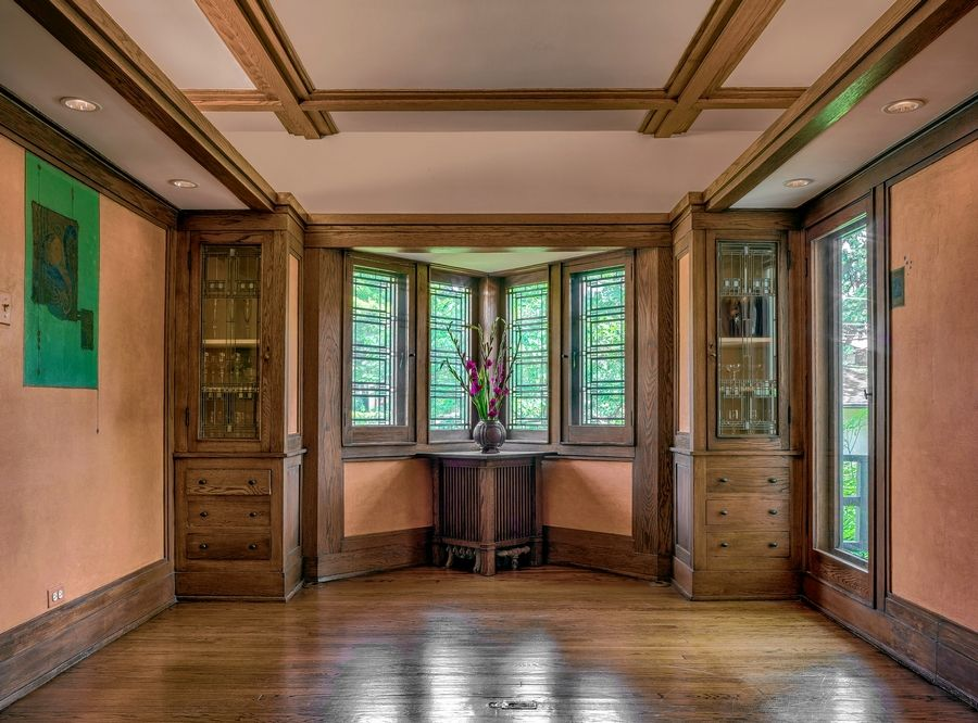 The dining room of Wright's William E. Martin House, 1903, will be on the Wright Plus tour May 18.
