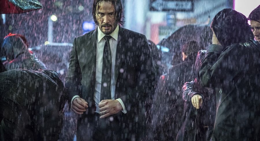 "A supposedly retired assassin (Keanu Reeves) faces new threats in ""John Wick: Chapter 3 -- Parabellum."""