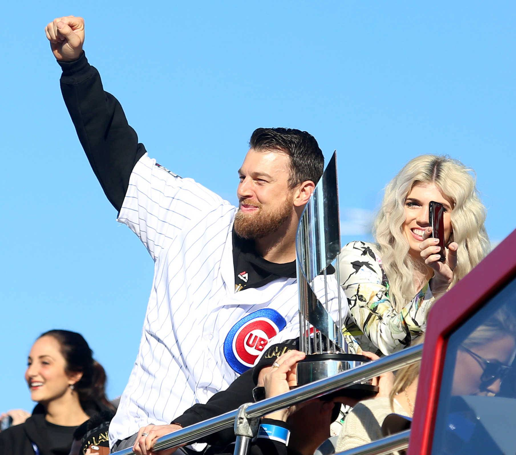 Cubs World Series MVP Ben Zobrist, who has been on personal leave from the team since last week, and his wife Julianna, filed for divorce Monday in Cook County circuit court.