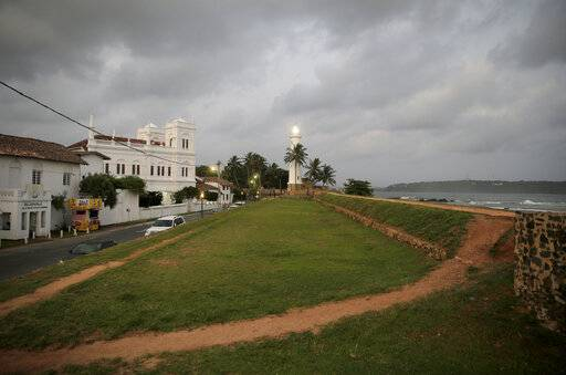 In this Friday, May 10, 2019, photo, the 17th century built Dutch fort, which was a popular tourist site, stands empty in Galle, Sri Lanka. Sri Lanka was the Lonely Planet guide's top travel destination for 2019, but since the Easter Sunday attacks on churches and luxury hotels, foreign tourists have fled. More than 250 people, including 45 foreigners mainly from China, India, the U.S. and the U.K., died in the Islamic State group-claimed blasts.