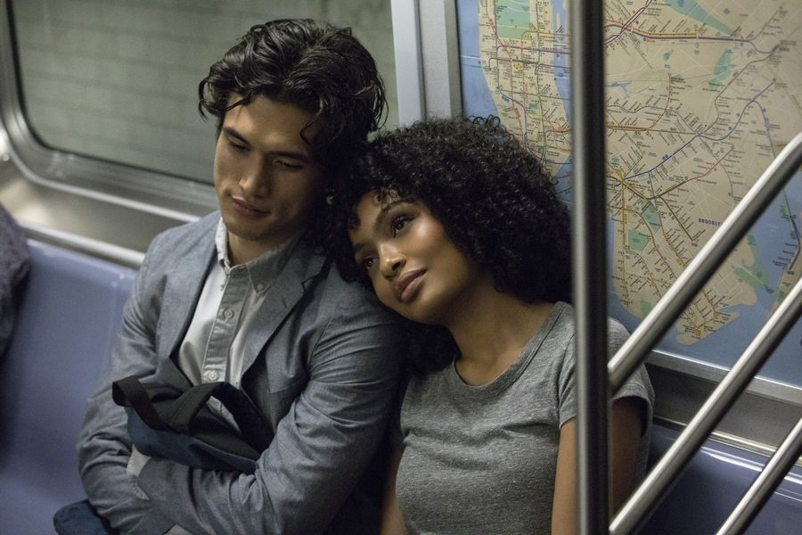 "Daniel (Charles Melton), left, convinces Natasha (Yara Shahidi) to spend a day with him in ""The Sun Is Also a Star."""