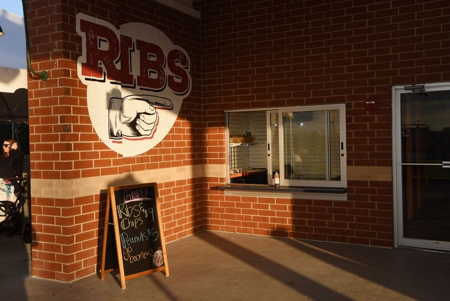 The Rib Shack is another new addition to Schaumburg Boomers Stadium.