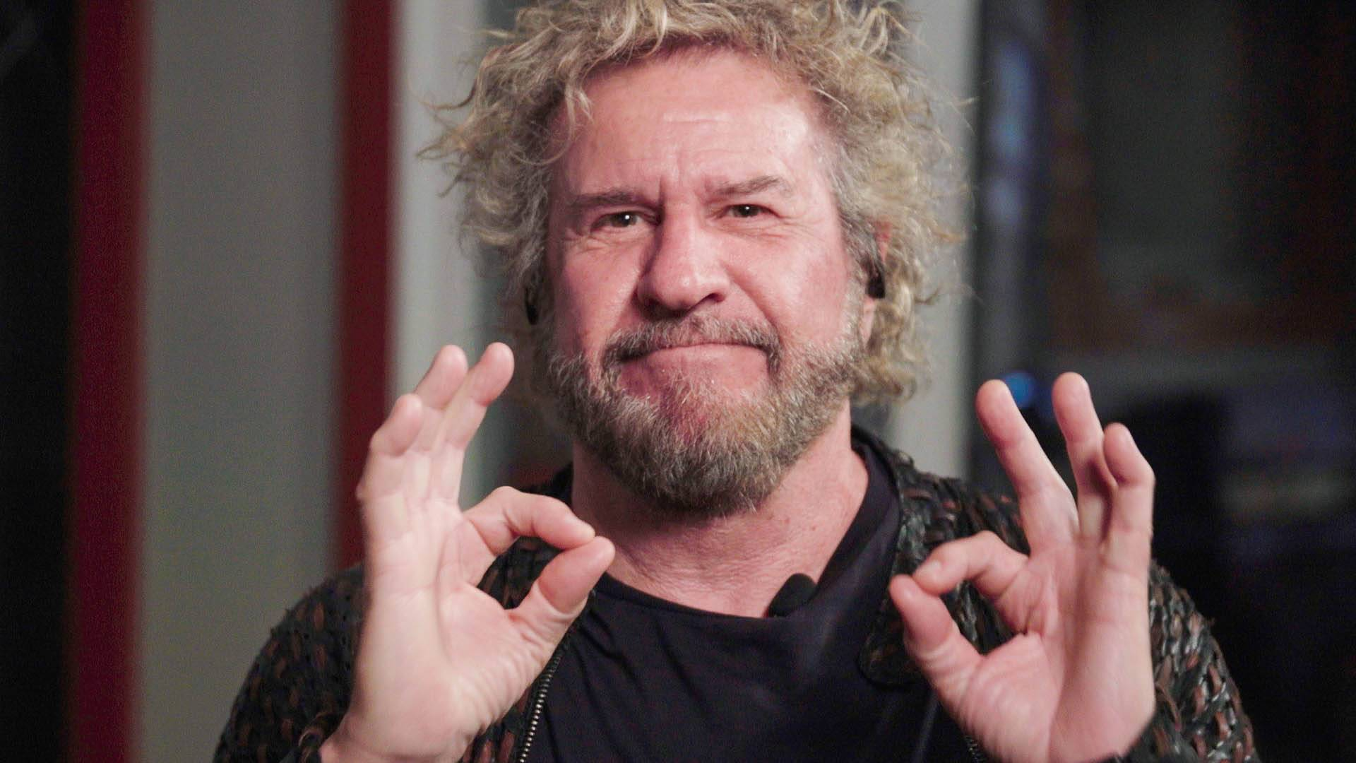 Rock and Roll Hall of Famer Sammy Hagar helped The Washington Post headbang with headphones.