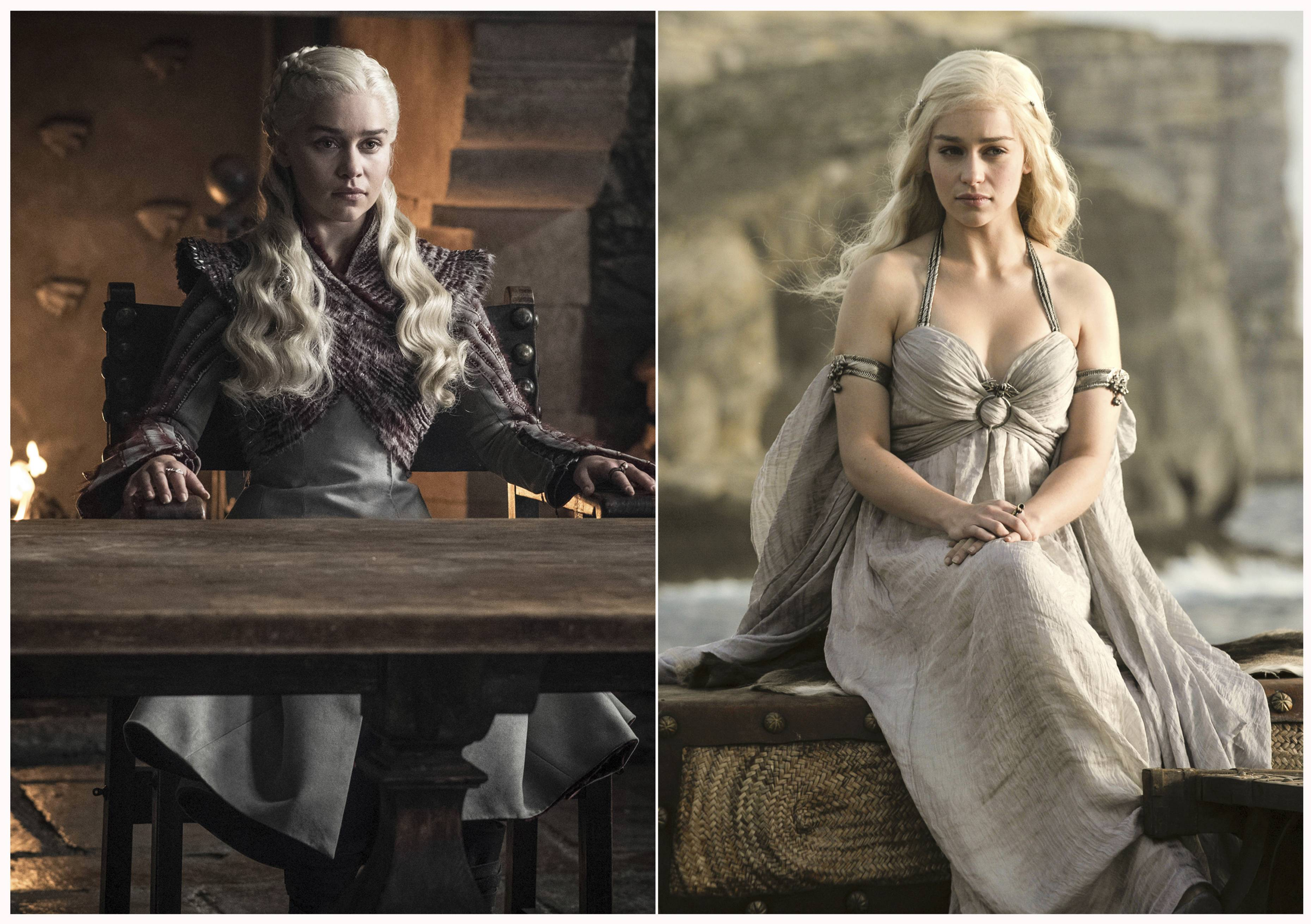 "Daenerys Targaryen (Emilia Clarke) in HBO's ""Game of Thrones."" The final episode of the popular series airs on Sunday."