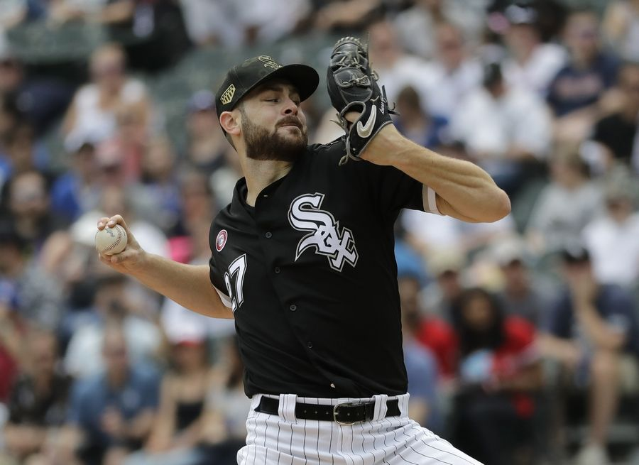 Lucas Giolito lasted only 5 innings Saturday, but it was enough to earn his first major-league complete game. Giolito and the Chicago White Sox beat the Blue Jays 4-1 in a game called after 5 innings due to rain.