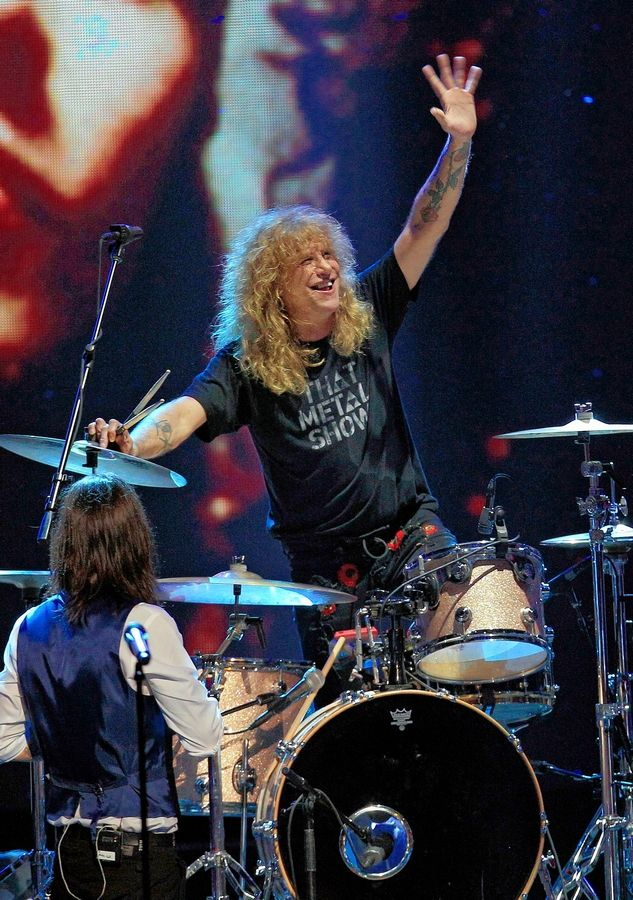 Guns N' Roses drummer Steven Adler performs at the Arcada Theatre in St. Charles on Friday, May 24.