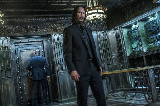 "Keanu Reeves stars in ""John Wick: Chapter 3 - Parabellum."""