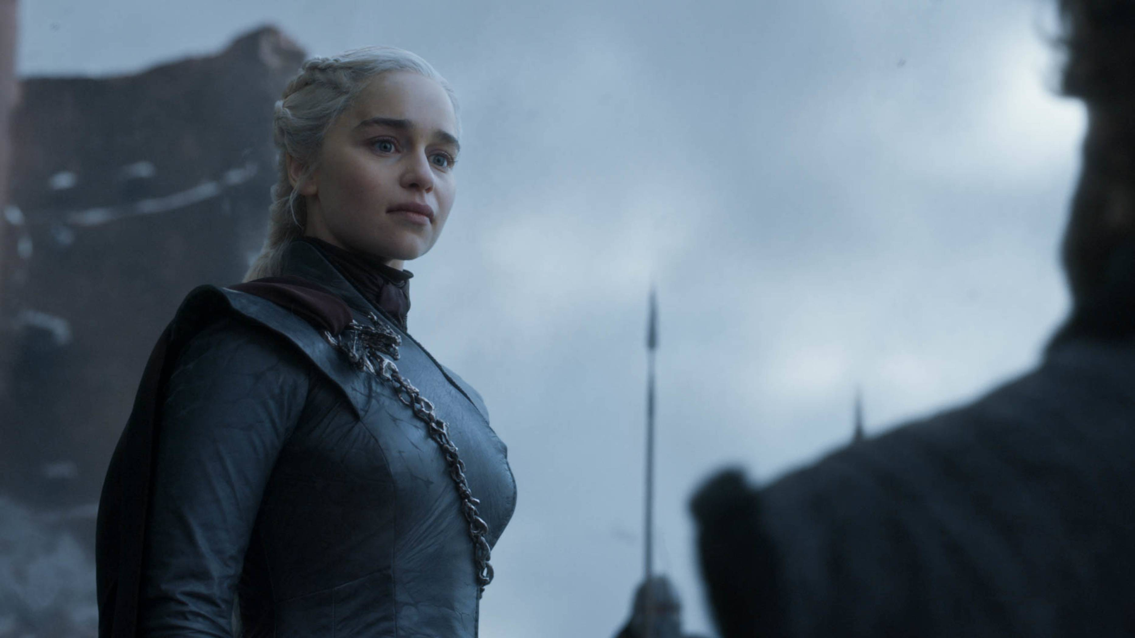 "Queen Daenerys (Emilia Clarke) in a scene from the final episode of ""Game of Thrones,"" which aired Sunday, May 19."