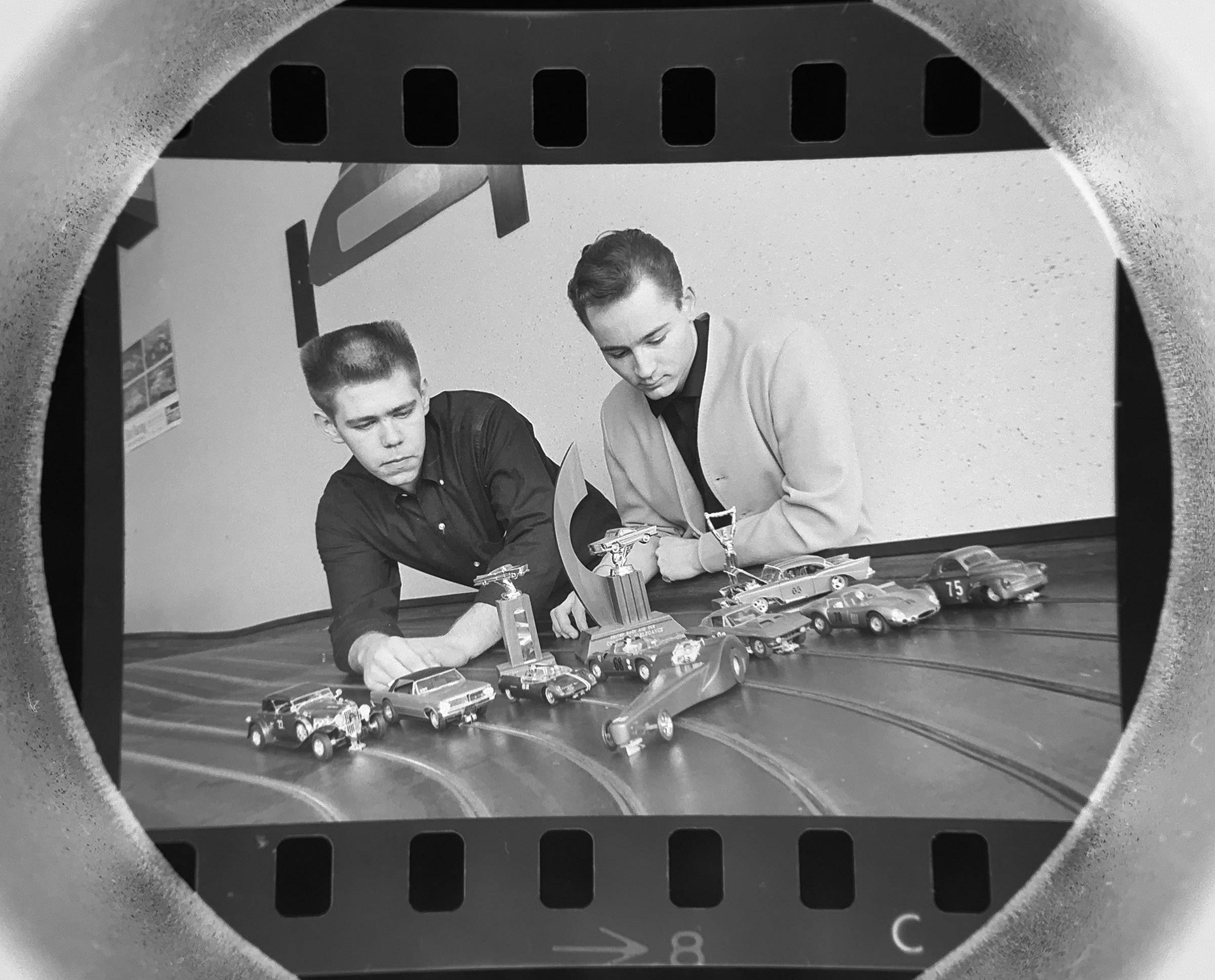 The Daily Herald Archive, Assignment # 563, Tom Grieger photo: Slot car racers show off their cars in Buffalo Grove in March of 1965.