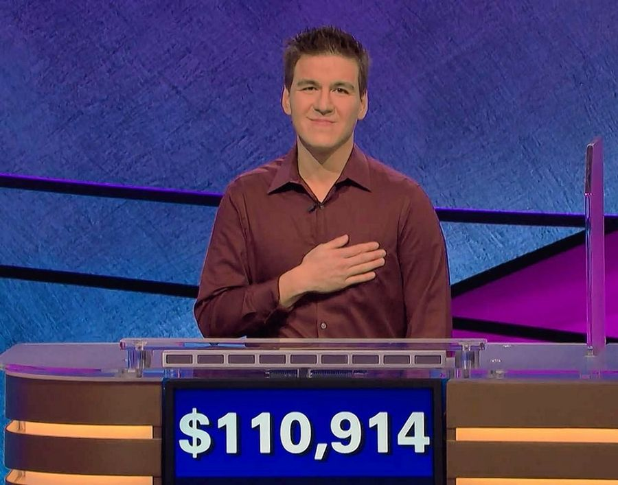 "Courtesy of Jeopardy Productions Inc.James Holzhauer, a Naperville North alumnus now living in Las Vegas, has set the single-game record for winnings on ""Jeopardy!"""