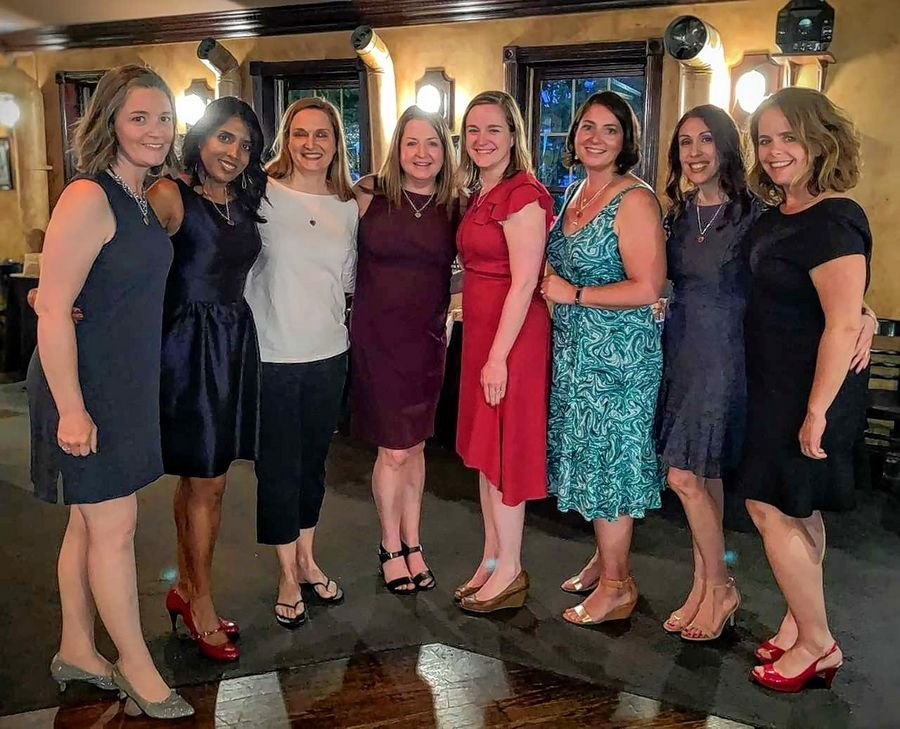The Batavia Mothers' Club Foundation board members for the 2019-20 year are: Kat Maggio, president-elect; Palak Coleman, communications co-chair; Kristi Bertie, secretary; Shannon Juarez, treasurer; Elizabeth Larson, philanthropic chair; Amanda Horne, ways & means chair; Eunice Turnbaugh, past-president; and Maura Hirschauer, president. Not pictured: Laura Fields, communications co-chair.