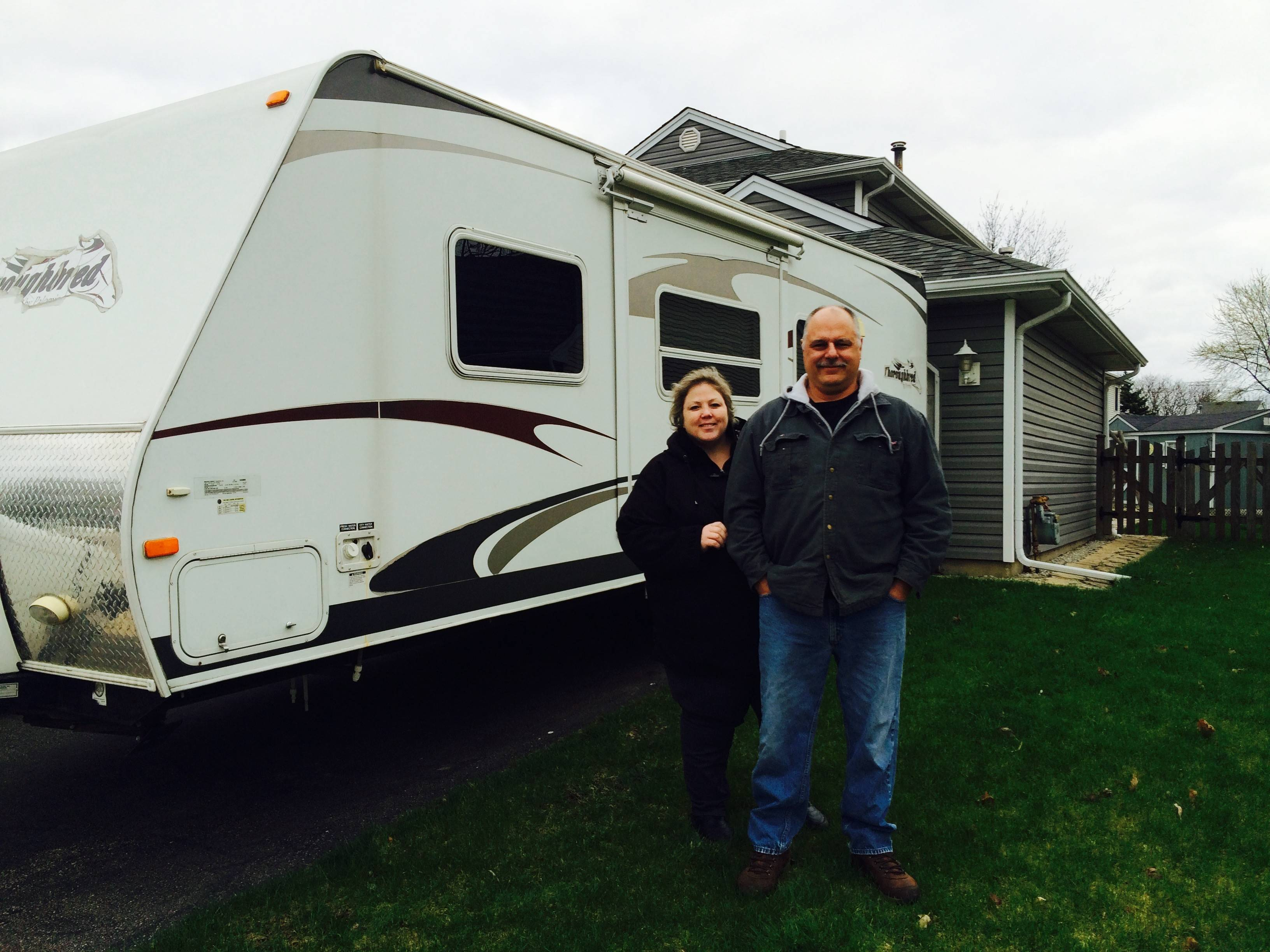 Cheryl Jacob, pictured here with her husband, Jeff Jacob, in 2015, hopes the city of Elgin will change its municipal code to allow recreational vehicles on private property. Cheryl Jacob petitioned the city four years ago and is going to again Wednesday.