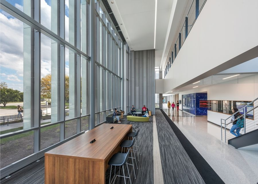 McHenry County College received LEED gold status certification for its newest campus building, the Liebman Science Center.