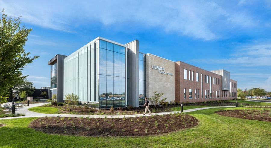 McHenry County College received LEED gold status certification for the Liebman Science Center. The two-story, 40,867-square-foot building off Route 14 includes an innovative design that has measurable water efficiency, indoor air quality and energy savings with overall lower maintenance costs.
