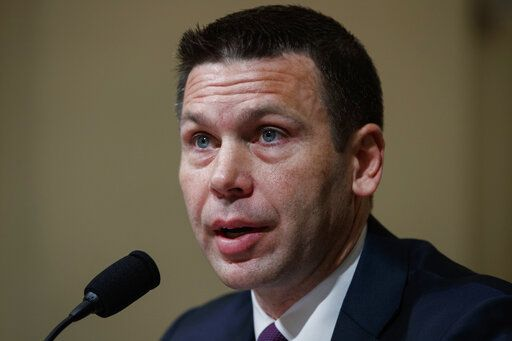 Acting Secretary of Homeland Security Kevin McAleenan testifies on Capitol Hill in Washington, Wednesday, May 22, 2019, before the House Homeland Security Committee on budget.