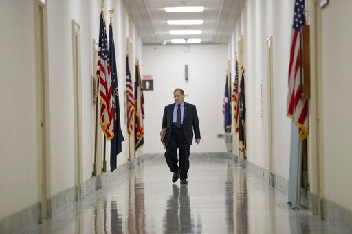 Judiciary Committee Chairman Jerrold Nadler, D-N.Y., arrives at his office before a House Judiciary Committee hearing without former White House Counsel Don McGahn, who was a key figure in special counsel Robert Mueller's investigation, on Capitol Hill in Washington, Tuesday, May 21, 2019. President Donald Trump directed McGahn to defy a congressional subpoena to testify but the committee's chairman, Rep. Jerrold Nadler, D-N.Y., has threatened to hold McGahn in contempt of Congress if he doesn't appear.