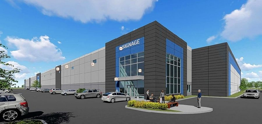 A rendering shows plans for a 162,000-square-foot industrial building at 1600-1700 Sherwin Ave. in Des Plaines. The city recommended a Cook County tax incentive for the project.