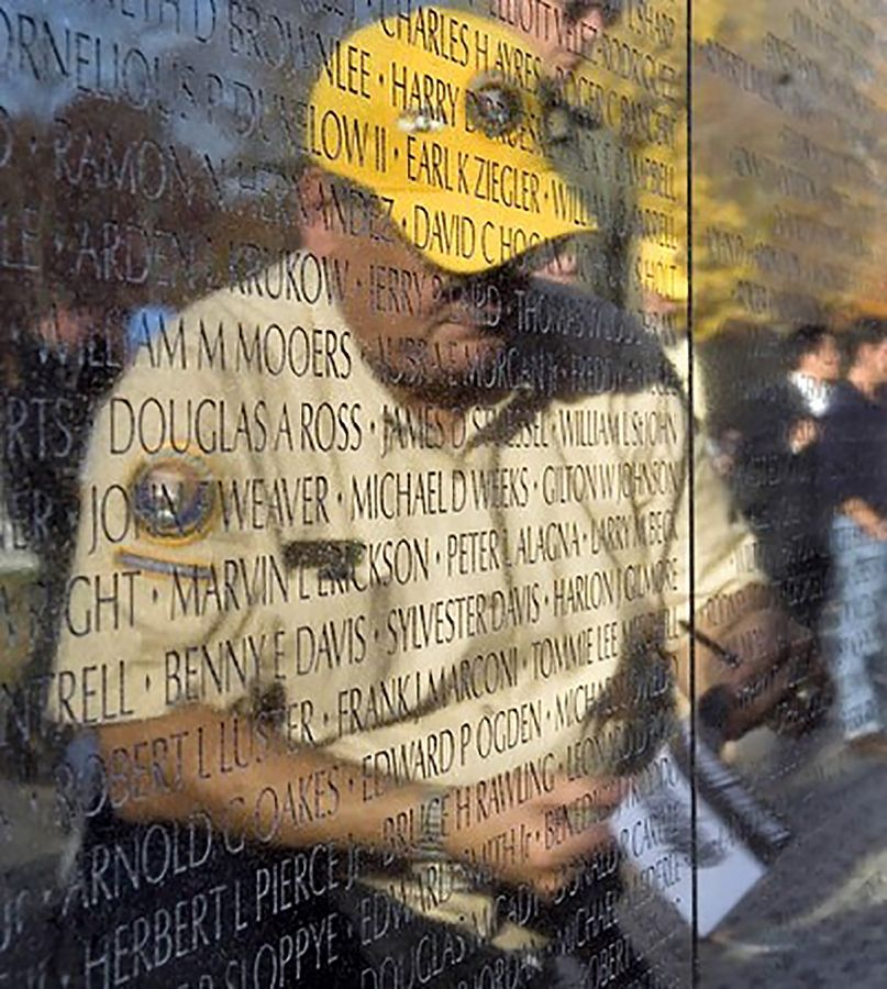 Lake Bluff resident Paul Baffico is reflected in the Vietnam Veterans Memorial in Washington, D.C.