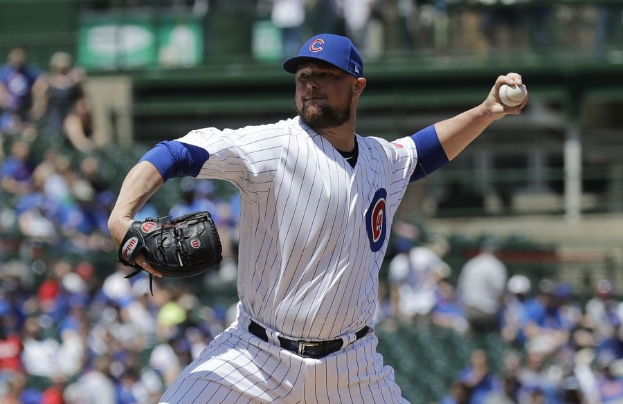 Jon Lester struggled Thursday, giving up 7 runs in four innings in the Cubs' 9-7 loss to Philadelphia at Wrigley Field.