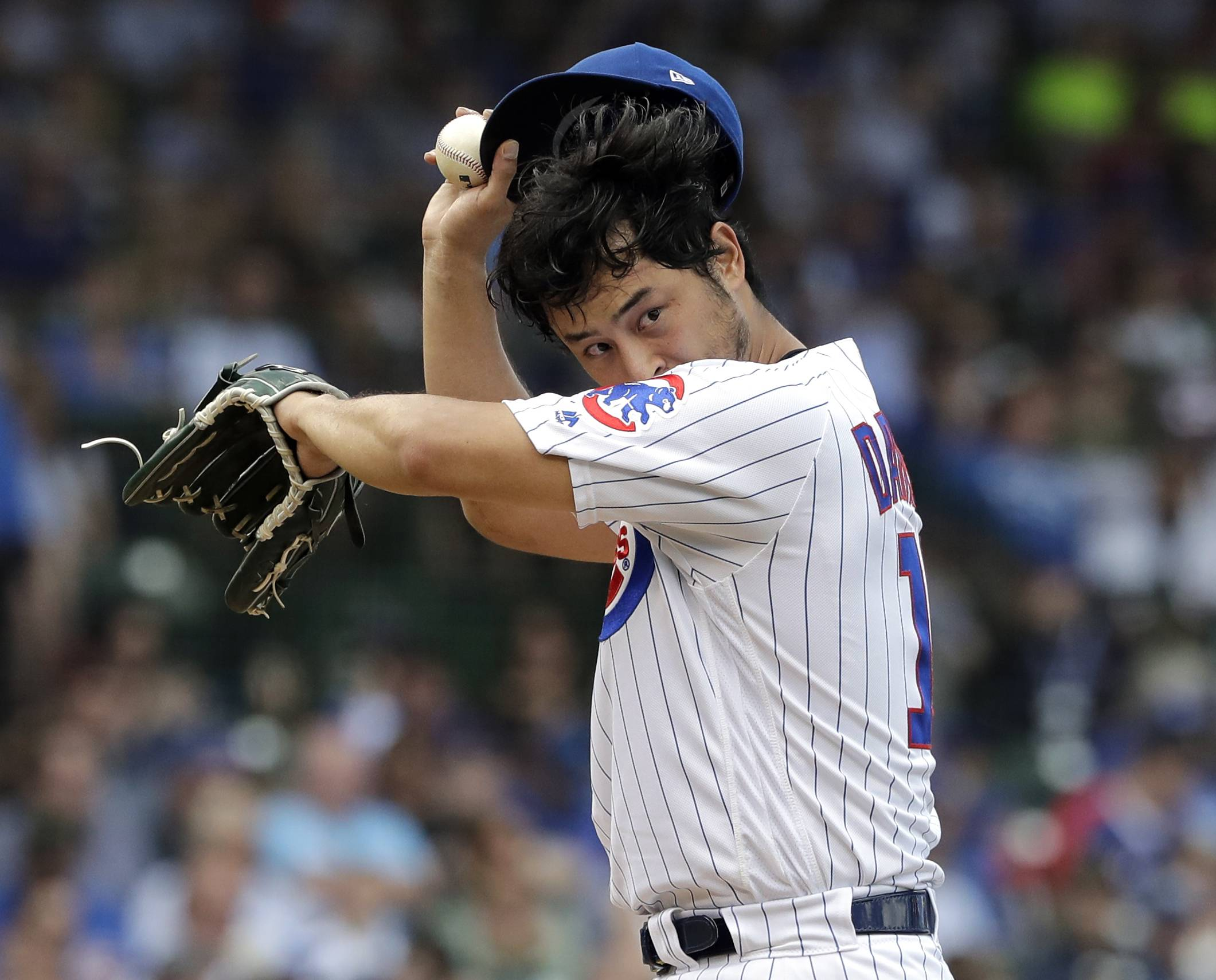 Yu Darvish made his longest start for the Chicago Cubs, who outlasted the Cincinnati Reds 8-6 Saturday at Wrigley Field.