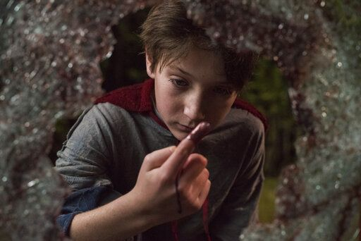 "This image released by Sony Pictures shows Jackson A. Dunn in a scene from Screen Gems' ""Brightburn."" (Boris Martin/Sony Pictures via AP)"