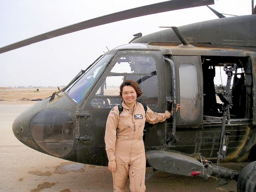 U.S. Sen. Tammy Duckworth's Black Hawk helicopter was shot down in Iraq by a rocket-propelled grenade on Nov. 12, 2004.