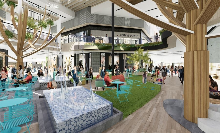 "A $6.2 million renovation of Hawthorn Mall's center court is expected to be complete by Black Friday. ""The idea is to create an engaging space the community can use for all different purposes,"" said Whitney Livingston, COO of projects for mall owner Centennial Real Estate."