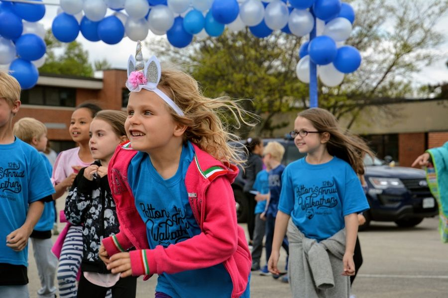 Students and staff culminate their fundraising efforts with their annual Walkathon. The police come out to add to the festivities as the students, staff and families of Patton walk the neighborhood to raise money for the Make-A-Wish Foundation.