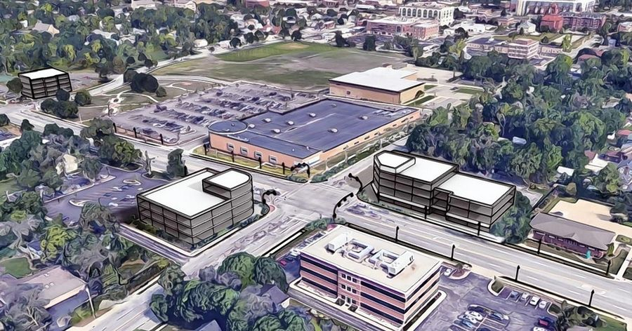 "An East Roosevelt Road corridor study commissioned by Wheaton encourages a concentration of new development in a ""commercial core,"" including at the corner of Naperville Road."