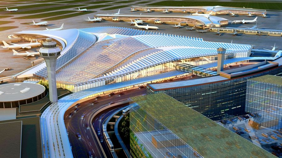 The new $2.2 billion global terminal at Chicago's O'Hare International Airport will be the centerpiece of a massive expansion. Studio ORD, led by architect Jeanne Gang, is designing the terminal.