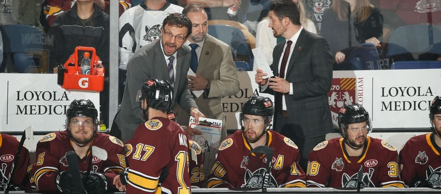 Chicago Wolves head coach Rocky Thompson racked up more than 2,000 penalty minutes while playing in the AHL. He's a well-respected leader of men -- one who figures to be leading an NHL team in the not-too-distant future.