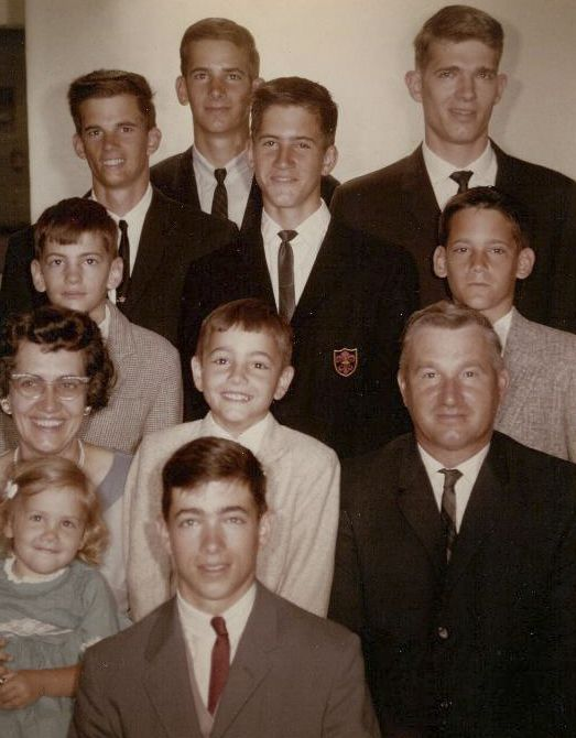 The Feltes family in 1966.