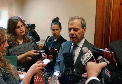 Illinois Senate President John Cullerton, D-Chicago, discusses the legislative session after it ended on Sunday, June 2, 2019 in Springfield, Ill. Cullerton said Democratic super-majority control, Republican cooperation, and new Democratic Gov. J.B. Pritzker's open door helped secure a session packed with what both sides call a balanced budget, a massive state construction program, expanded casino gambling and legalized sports betting, legalization of recreational marijuana use and statutory protections for abortion.