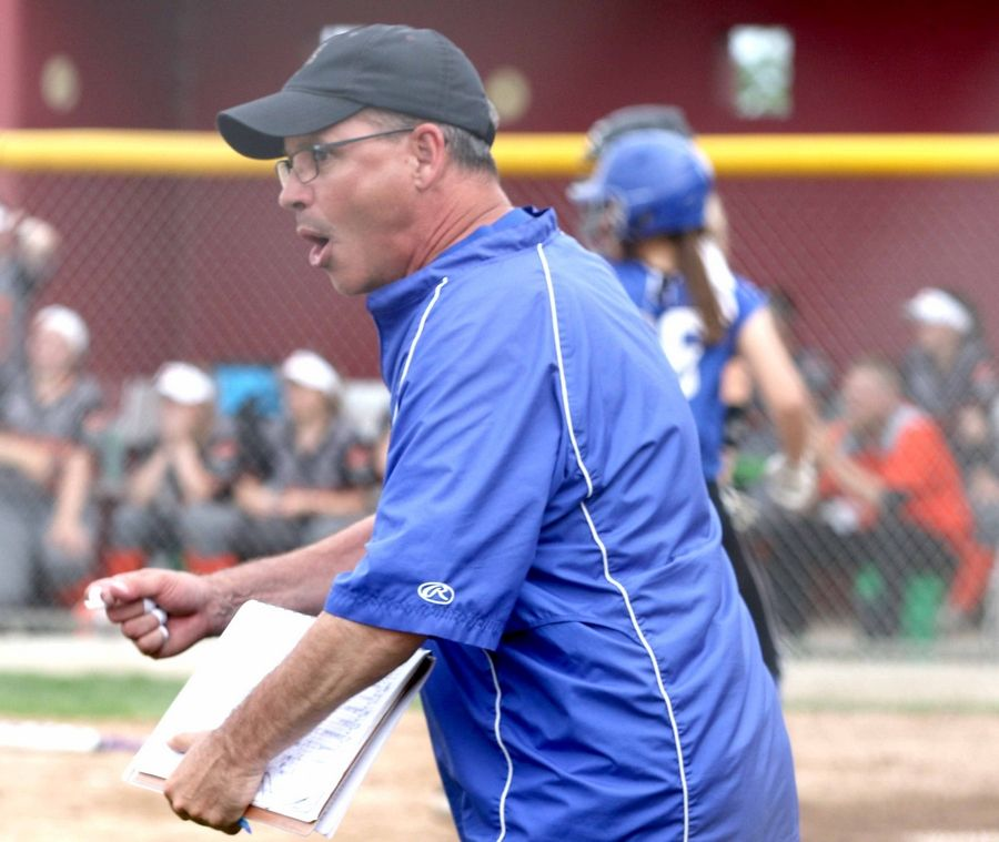 Geneva coach Greg Dierks, pictured at last week's Class 4A Plainfield North sectional, coached his final game after 30 years with the Vikings Monday when his team lost 10-2 to Marist in the Class 4A Marist supersectional.