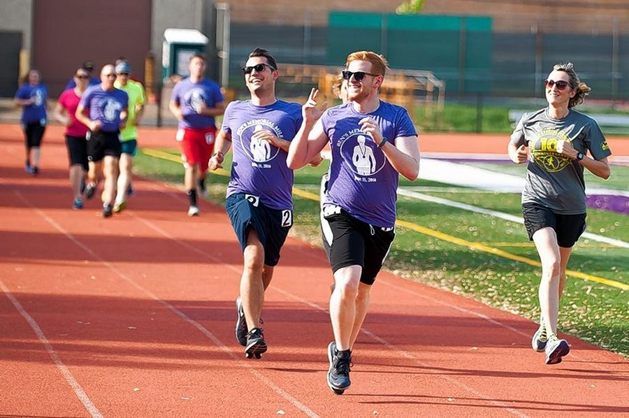 Courtesy of Ben's Memorial MileBen's Memorial Mile will involve participants circling the track June 15 at Downers Grove North High School in several themed miles during an event to raise money for mental health causes. The evening concludes with a walking mile under the lights in honor of anyone who suffers from a mental health condition.