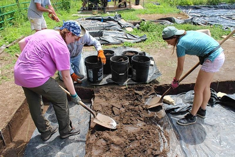 As volunteers gain experience and display proficiency, they are introduced to basic shovel excavation in the plow zone located 8 inches above any historic features like cellars, post molds, or middens.