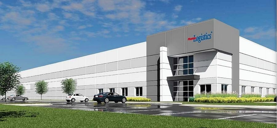 This is a rendering of a new office/warehouse/distribution center for PharmaLogistics in the Libertyville Corporate Center.
