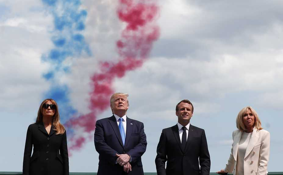 471810dc5d84 U.S. President Donald Trump, U.S. First Lady Melania Trump, left, French  President Emmanuel.