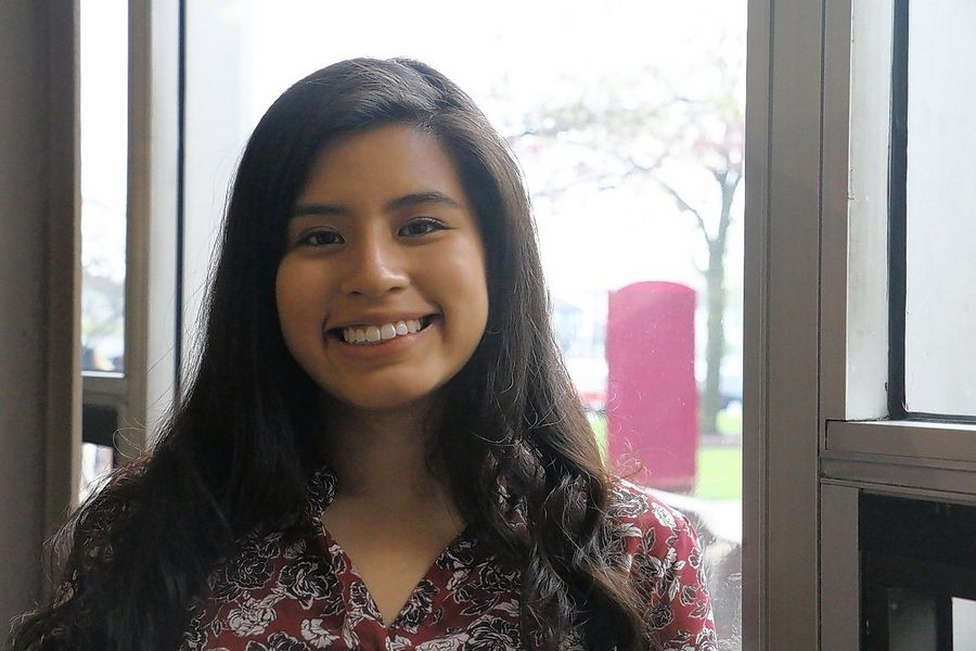 Samantha Pelaez, a Harper College Promise Scholar, is excited for her future as a teacher, a career which she explored while taking part in District 214's Career Pathways program.