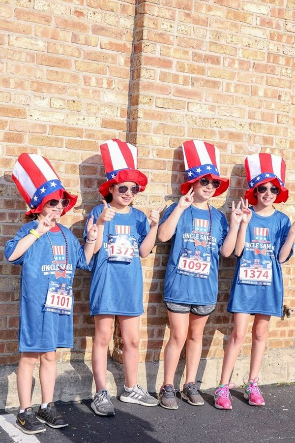 Participants of the 2018 Little Patriot's Kids Dash. This year's Uncle Sam 5K and Little Patriot's Kids Dash will be held July 7 in Palatine.