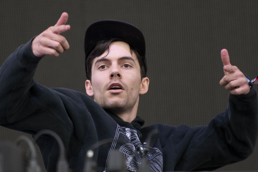 G Jones performs during Day 2 of Spring Awakening Music Festival on Saturday in Hoffman Estates.