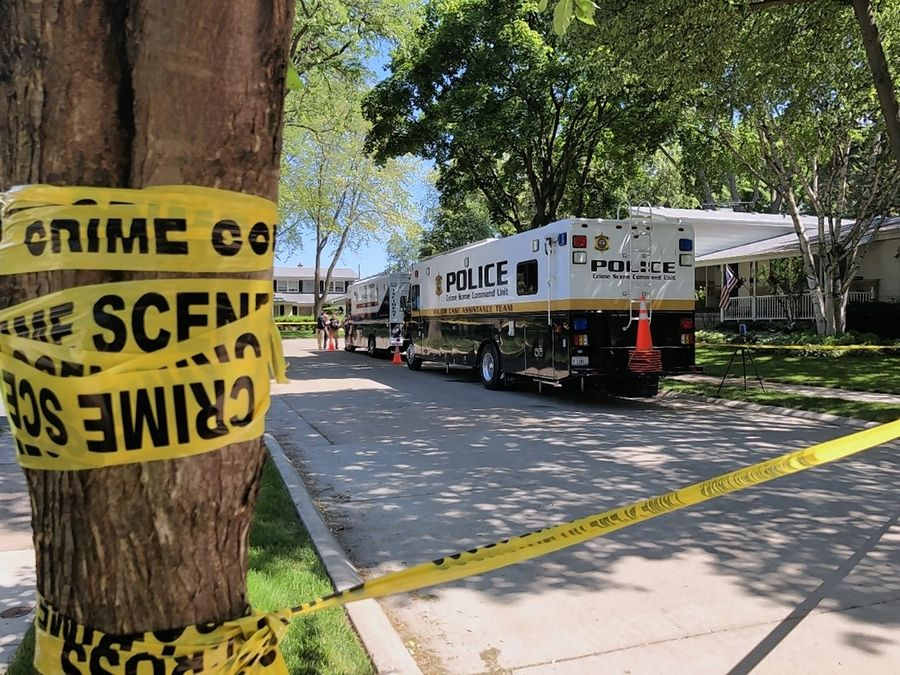 Police responding to a call from a home on South Derbyshire Drive in Arlington Heights conducted a well-being check Saturday and found two homicide victims.