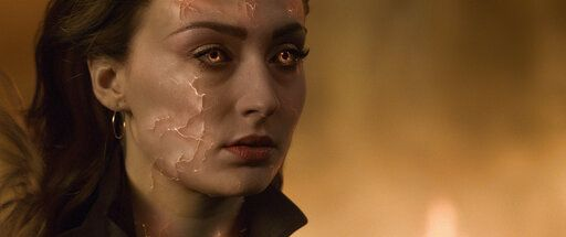 "This image released by Twentieth Century Fox shows Sophie Turner in a scene from ""Dark Phoenix."" (Twentieth Century Fox via AP)"