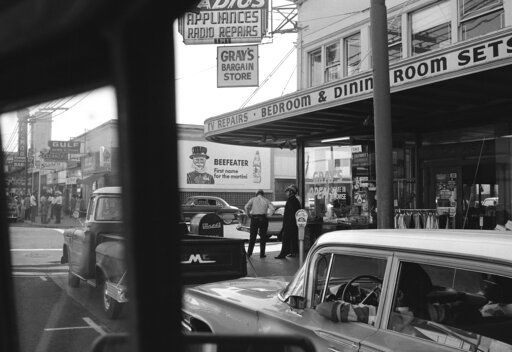 "FILE - This Sept. 29, 1966, file photo shows part of the Fillmore District in San Francisco. Actor Jimmie Fails draws from his own story in his portrayal of a young black man navigating a shifting racial landscape in ""The Last Black Man in San Francisco."" His tale is a familiar one in affluent U.S. cities."