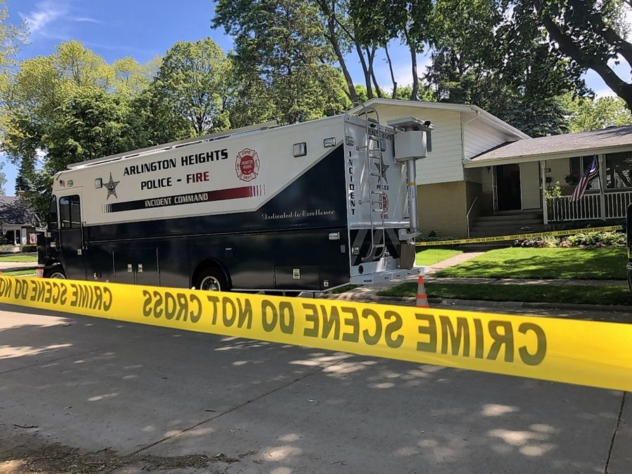 The daughter of the Arlington Heights couple found dead in their South Derbyshire Lane house early Saturday has been charged with two counts of first-degree murder, police said.