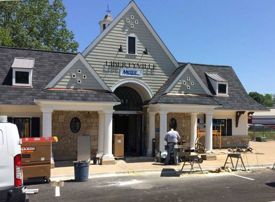 Libertyville's renovated downtown Metra station could be ready for commuters by the end of June.